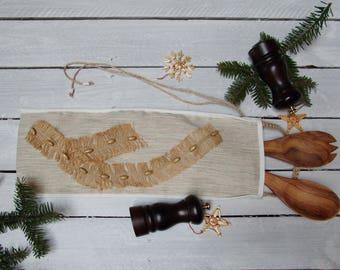 Reusable gift bag; Christmas Gift Bag; Wine bottle bag; Textile storage bag; Reusable Christmas gift bag.