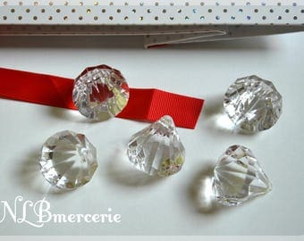 Set of 4 decorative diamonds