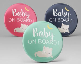 1 badge pins pregnancy Baby on Board / pregnant woman