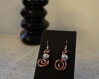 earring brown orange