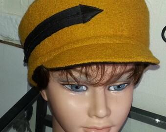 Saffron boiled wool winter Hat