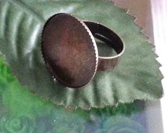 1 medium ring tray 20 mm brass components Adjustable ring, conclusions about the ring base, bronze antique