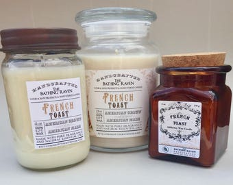 FRENCH TOAST - 100% soy candles, 3 sizes available