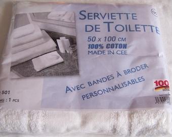 Personalized towel, cotton, white