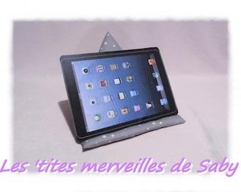 """support cushion berlingot for tablet or eReader """"gray stars"""""""