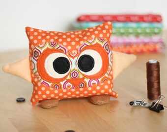 Plush Hubert the OWL - orange