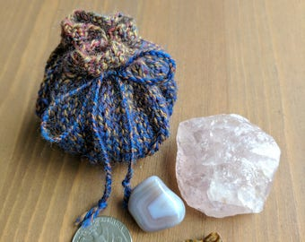 Knitted Crystal/Treasure Pouch (linerless)
