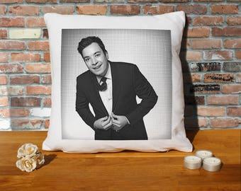Jimmy Fallon Pillow Cushion - 16x16in - White