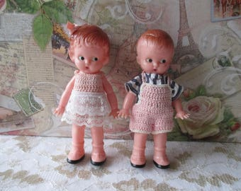 couple children American dolls from the 60's