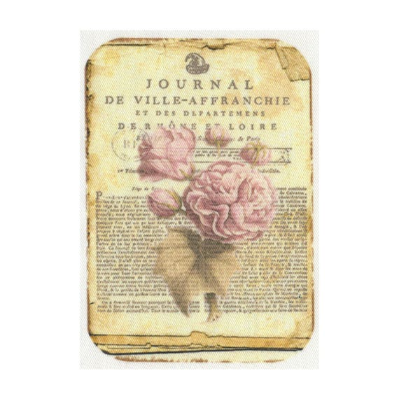 """Applied fusible - Collection """"Old Rose"""" 3 AT406"""