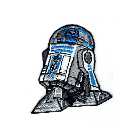 "Patch fusible pattern ""R2D2 robot"""