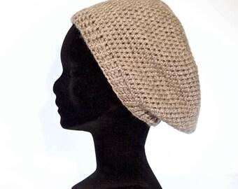 """Seaside"" hat in crochet acrylic string 58 cm/Fille14-16 years sleeves S-M"