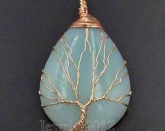 beautiful 30 * 40 mm amazonite stone pendant