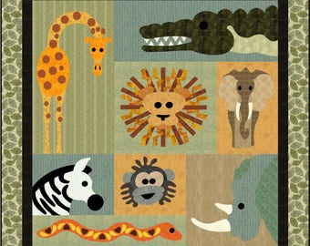 Jungle Boogie, applique pattern