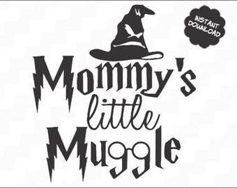 Mommy's little muggle, Baby svg, Cute svg, Harry Potter cricut, Muggle cricut, Little muggle, Harry Potter svg, Muggle svg,