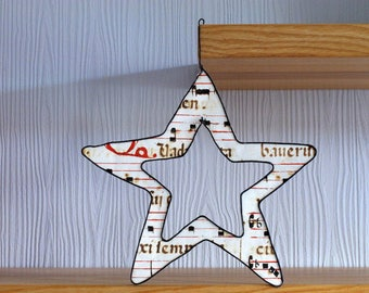 Star wire and handmade paper