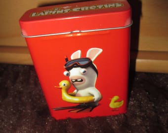 Red buoy lapin crétin storage box