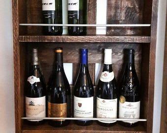 """Wine rack"" shelf industrial raw look pallet wood"