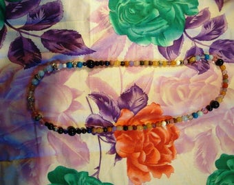 Bohemian necklace with multiple colors