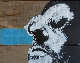 painting on wood, Leon stencil