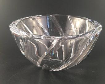 Vintage Sasaki Crystal Bowl, Vintage Crystal Bowl, Crystal Home Decor, Elegant Crystal Bowl