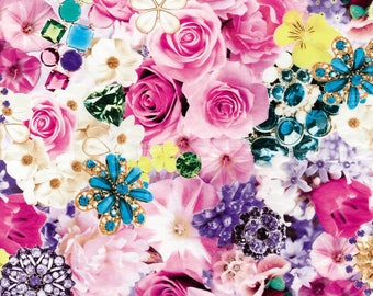 Leaf Decopatch 30 x 40 cm - Roses and jewelry N 639 - Ref FDA639