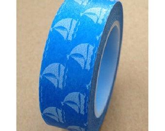 Washi tape (washi) - boats