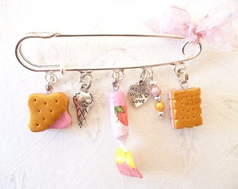 charms pin ' back to childhood Strawberry '.