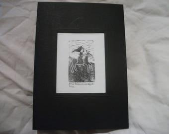 Fine Horsewoman Card
