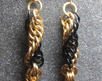 Pittsburgh Proud Spiral Earrings
