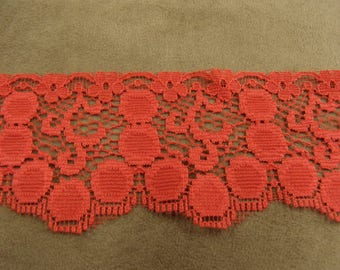 Ribbon lace - 6.5 cm - Red