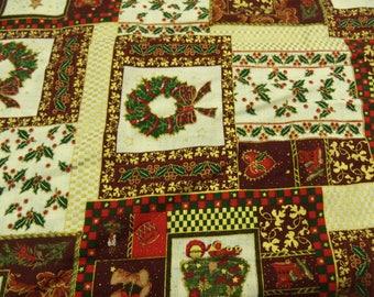 decoration - Christmas MULTICOLOR cotton fabric