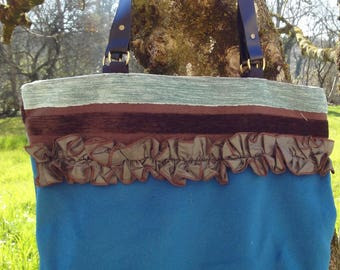 beautiful short velvet tote bag and frilly