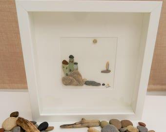 Pebble/Stone Art - 'By the Sea'