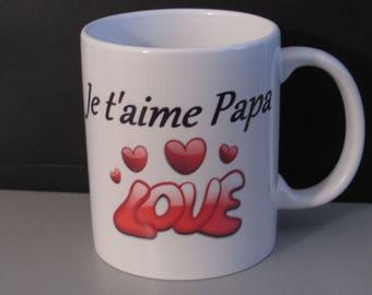 """Mug """"I love Daddy"""""""