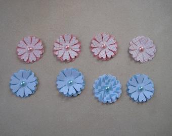 Flower paper, scrapbooking, embellishment