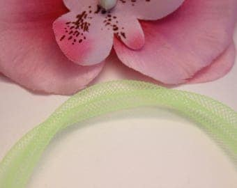 2 m mesh tube 5mm Lime