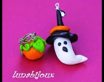 Halloween ghost pumpkin halloween jewelry earring