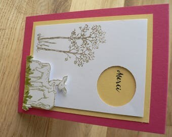Fawn and DOE 3D thank you card