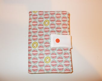 Cotton coral/watermelons/kiwi diary protected and his daily Agenda 2016-2017