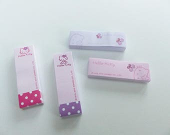 repositionable Hello Kitty bookmark 4 block style mini note pad