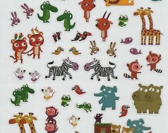 Noah's Ark animals scrapbooking stickers with Santa Claus: 20 cm x 15.5 cm