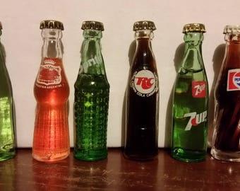 Vintage soda pop bottles