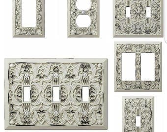 Light Switch Cover/LGFI/Outlet/Rocker/Plug/Triple Light Switch/Plate/Nursery/Wall Decor/Shabby Chic/wall Decor/French Country Decor
