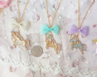 Unicorn Ribbon Necklace