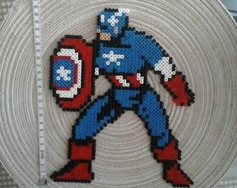 Captain America. Marvel. Pixel art