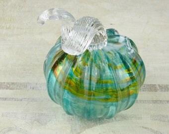 Hand-made blown glass pumpkin