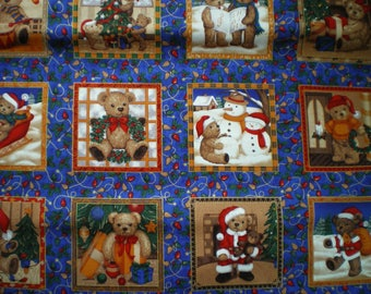 patchwork square ref103167 bear fabric