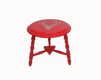Deer red side table