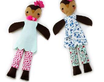 Felt  Owl Pattern, Toy Pattern, DIY Push Owl, Felt Craft Sewing Pattern, Hand Sewing Pattern, Owl Doll, Owl Pattern, Girls PDF, Owl Toy PDF